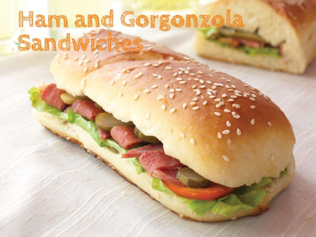 Ham and Gorgonzola Sandwiches