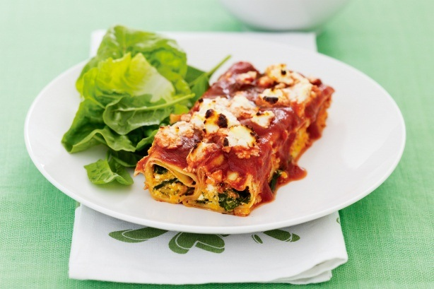 Mushroom and Pumpkin Cannelloni