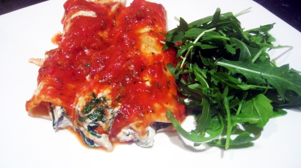 Spinach and Tofu Cannelloni