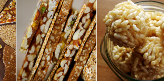 How to make Groundnut (Peanut) Chikki and Puffed rice (Mamra) Laddu