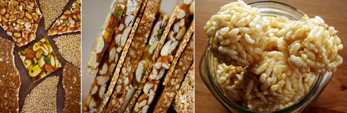 How to make Groundnut (Peanut) Chikki and Puffed rice (Mamra) Laddu