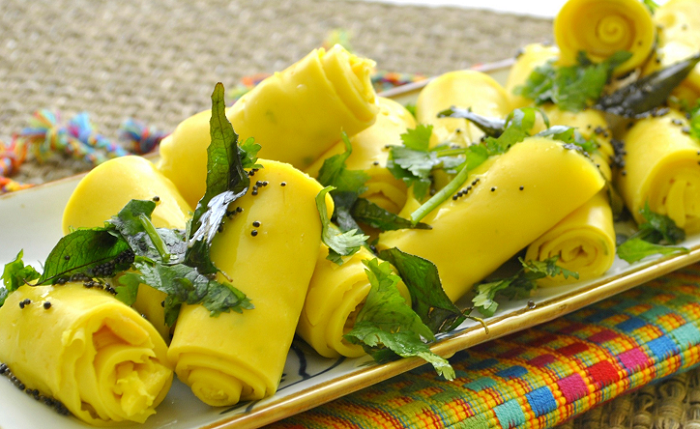 Khandvi Gujarati snacks