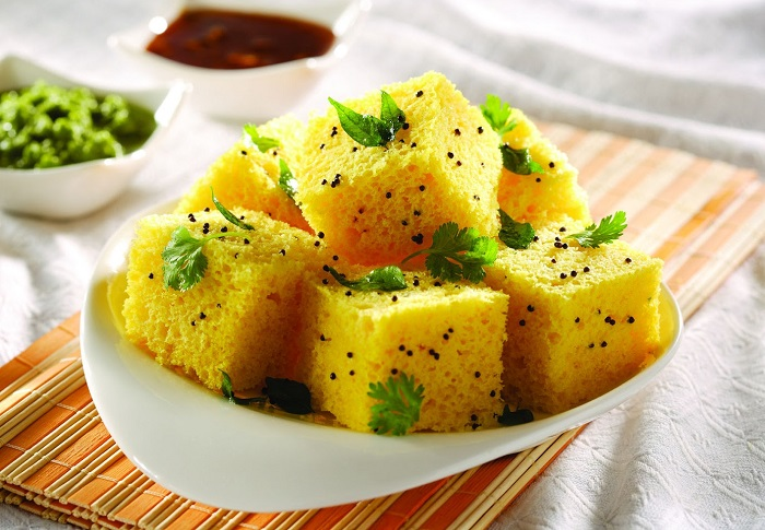 11 famous gujarati snacks with pics gujarati food items gujarati dish khaman dhokla forumfinder Choice Image