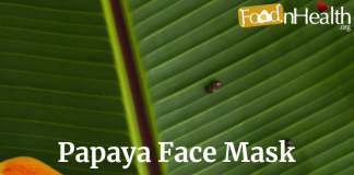 Papaya Face Pack For Glowing And Lightening of skin