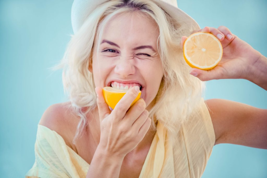 Citrus could erode the enamel of your teeth