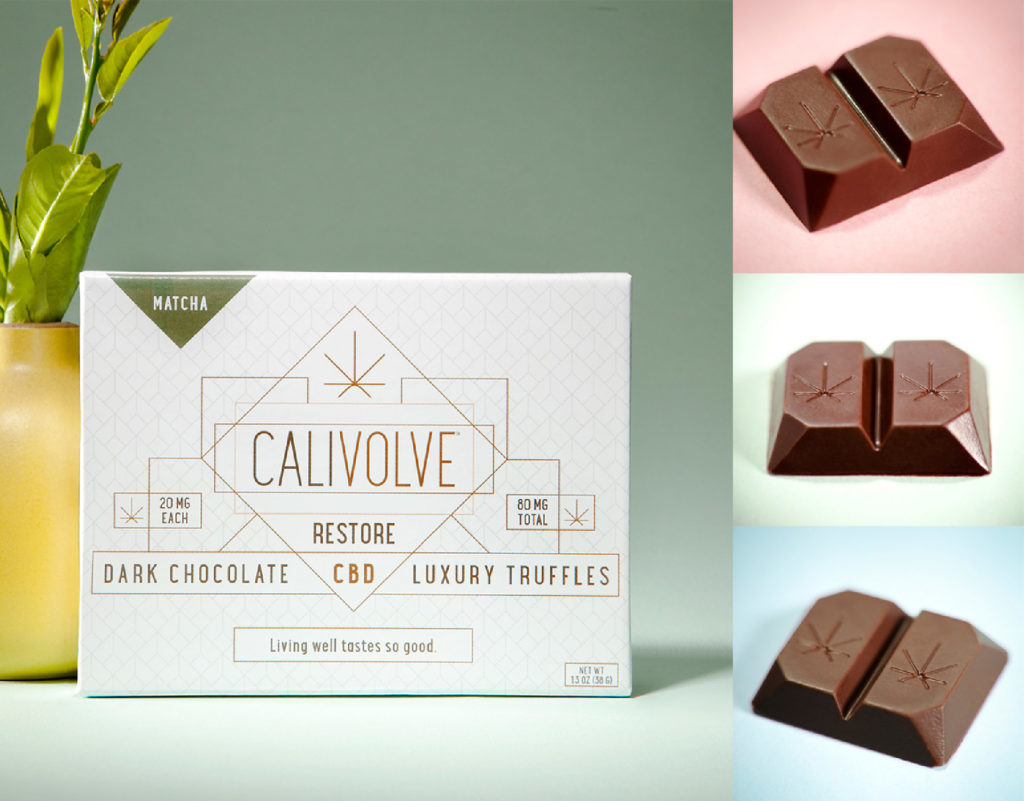 Calivolve CBD dark chocolate truffles